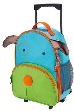 Skip Hop Zoo Little Kids & Toddler Rolling Travel Luggage, Dog #luggage #kids #gift #affiliate #travel