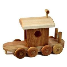 Wooden Train Caboose by WoodToyShop on Etsy, $32.00