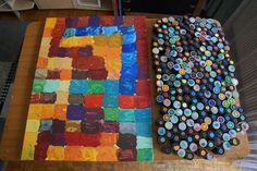 """at work: """"1985 / 2015 - every color sings it own melody"""", 03. - 08. 2015, #pixelism - ca. 120.000 painted pixels, acrylic on canvas. #visualarts, #finearts, #painting, #atwork"""