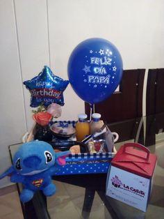 Ideas Desayunos, Diy Gift Baskets, Balloon Gift, Ideas Para Fiestas, Fathers Day, Best Gifts, Balloons, Happy Birthday, Homemade