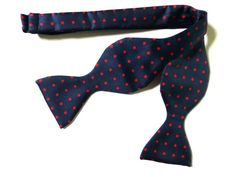 Vintage silk bow tie c198090's men's accessory by vintagejewelbox, £15.00