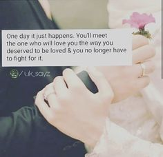 In Sha Allah Ameen cannot wait ! Cute Couple Quotes, Sad Love Quotes, Girly Quotes, Romantic Love Quotes, Best Quotes, Romantic Proposal, Romantic Weddings, Islamic Quotes, Islamic Inspirational Quotes