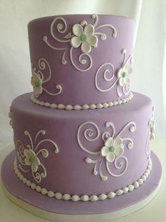 Purple Flower cake   Custom Cakes