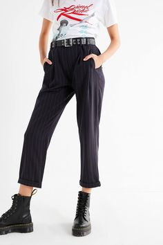 Light Before Dark Pleated Plaid Pant | Urban Outfitters