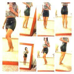 vegan leather black skirt Not your basic black skirt...edgy...smooth...body hugging...very flattering...from h&m Divided Skirts