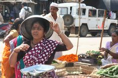 woman sitting in the market