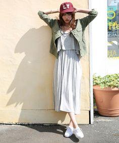 LOWRYS FARM レイヤードキャミマキシワンピース / Maxi dress coordinate on ShopStyle