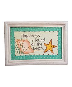 Look at this #zulilyfind! 'Happiness' Framed Wall Art by Pearson's Simply Primitives #zulilyfinds