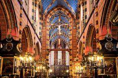 Basílica de la Virgen María - Cracovia, Polonia.