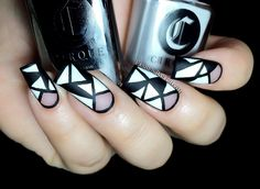 Cirque Back to Basics collection nail art