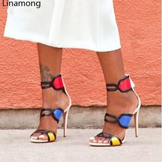 2017 Hot Sale Cover Heel Sandalias Mujer Melissa New Fashion Open Toe High Heel Gladiator Sandal Shoes Woman Multicolor Sandals Source by Bags outfit Hot Shoes, Crazy Shoes, Women's Shoes Sandals, Me Too Shoes, Shoe Boots, Women Sandals, Ankle Boots, Sandal Heels, Open Toe High Heels