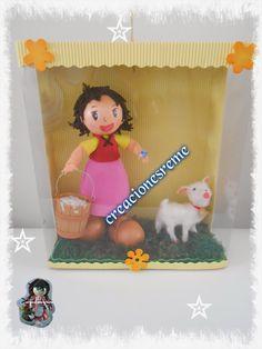 Muñequitas de goma eva Creacionesreme: Cajita de Heidi fofucha Heidi ,cajita muñequita Heidi ovejita de fofucha Heidi ,#fofuchas #fofuchos