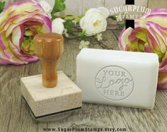 Custom soap stamp custom fondant stamp custom by SugarPlumStamps