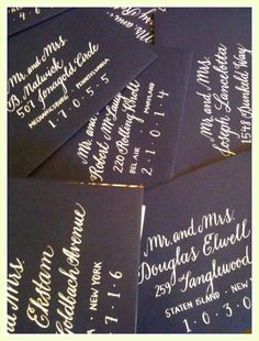 Stratford Wedding Calligraphy by myrtleandlloyd on Etsy, $1.65