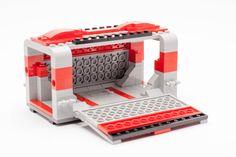 Corridor, with fold down entrances Lego Moc, Lego Duplo, Lego Furniture, Minecraft Furniture, Lego Super Mario, Classic Lego, Lego Kits, Lego Ship, Lego Spaceship
