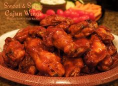 Melissa's Southern Style Kitchen: Sweet & Spicy Cajun Wings