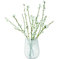 LSA Cotton Vase ($66) ❤ liked on Polyvore featuring home, home decor, vases, fillers, flowers, plants, decor, phrase, quotes and saying