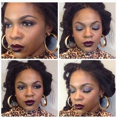 Vampy lip and smokey eye // Candice O Beauty