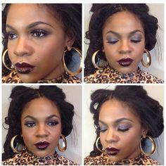 Vampy lip and smokey eye // Candice O Beauty