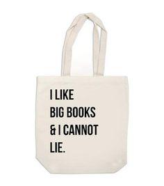 Canvas Tote Bag - I Like Big Books And I Cannot Lie - Ex Libris Journals
