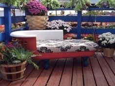 Clawfoot Bathtub Couch by KatetheGreatsShop on Etsy, $850.00