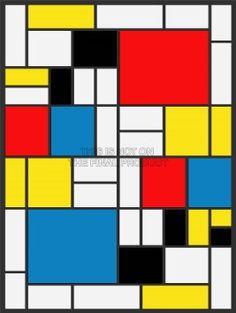 mondrian original - Buscar con Google | Abstracción geométrica ...