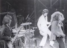 John Paul Jones, Jimmy Page and Robert Plant of Led Zeppelin