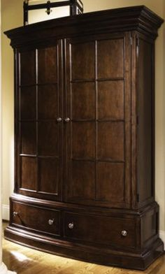 Traditional Wooden Armoire with Drawers