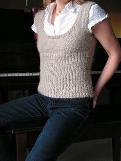 Knit Scoop Neck Vest