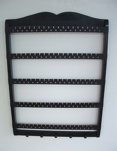 jewelry holder: use my old black shelf, add hooks or ?s for bracelets & rings! Part of collage or on its own.