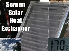 Picture of Screened Solar Air Heater