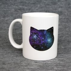 Classic mug with galaxy cat print  blue & pink by purrfidious, €11.00