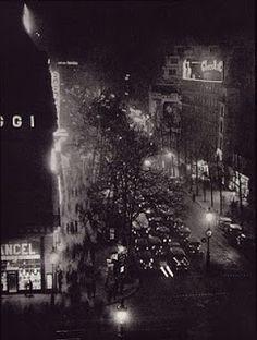 "Brassaï (Gyula Halász) 1899-1984 - Boulevards at the Place de l'Opera - From ""Paris by Night"" 1933"