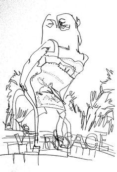 belle BRUT sketchbook: #GiseleBundchen for #Versace #fashion #style #illustration #blindcontour  © belle BRUT 2014   http://bellebrut.tumblr.com/post/93749222215/belle-brut-sketchbook-versace-fashion-style