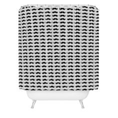 Allyson Johnson Classy Mustaches Shower Curtain | DENY Designs Home Accessories