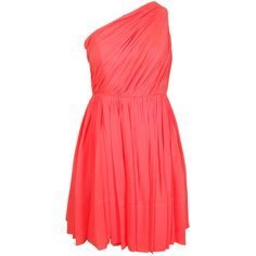 Shoshanna Rayna Dress in Coral ($370) ❤ liked on Polyvore