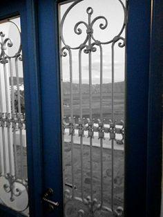 Santorini, Oia. Blue door. Door to parade...