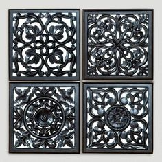 One of my favorite discoveries at WorldMarket.com: Mirrored Carved Plaque, Set…