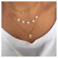 Today's Layers  #ALEXMIKA Mila Spike & Hamsa #Necklace  alexmikajewelry.com