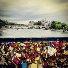 Love lock bridge. Paris