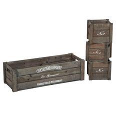Kaunista kotiin - Puulaatikko Grayson 3 kpl - Hyvän Tuulen Puoti. 29,90