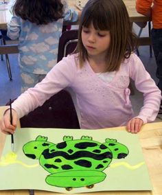 ♥ John Post - Poison Frog Paintings with Organic shapes. Painting Lessons, Art Lessons, 3rd Grade Art Lesson, Primary Lessons, Spring Art, Arts Ed, Art Lesson Plans, Organic Shapes, Elementary Art