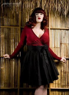 The Gia Top in Burgundy from Pinup Couture - Plus Sizes
