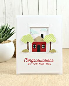 No Place Like Home Stamp Set, Home Sweet Home Die-namics, Rectangle Peek-a-Boo Window Die-namics - Joy Taylor  #mftstamps