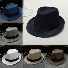 a6b0d285891 New Classic Mens Women Straw Fedora Hat Wide Brim Panama Hat Summer Dress  Hat  fashion