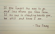 the fray song quotes | the fray song lyrics music forget lose came from stand beside you