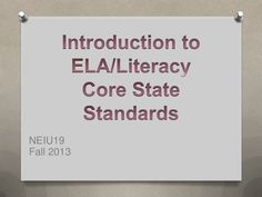PA ELA/Literacy Common Core Training