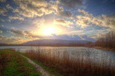 Porta Westfalica lakes in Winter light. Ostwestfalen, Germany https://www.picturedashboard.com
