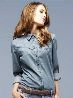 La chemise en jean de 3 Suisses