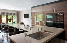 Supreme Kitchen Remodeling Choosing Your New Kitchen Countertops Ideas. Mind Blowing Kitchen Remodeling Choosing Your New Kitchen Countertops Ideas. One Wall Kitchen, Kitchen Island With Sink, New Kitchen, Awesome Kitchen, Kitchen Dining, Sink On Island, Kitchen Island Attached To Wall, Kitchen Island Sink, L Shaped Island Kitchen